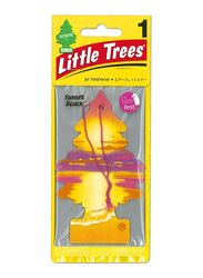 Little Trees Card Sunset Beach Air Freshener, Orange/Pink