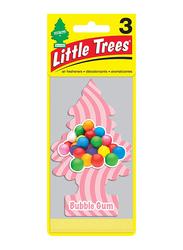 Little Trees 3-Piece Paper Bubble Gum Air Freshener, Pink