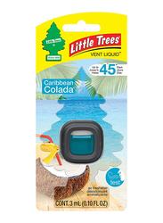 Little Trees Vent Liquid Caribbean Colada Air Freshener, Black/Blue