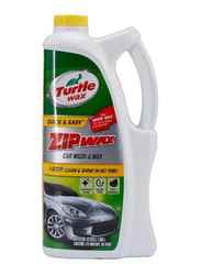 Turtle Wax 1.89Ltr Zip Wax Car Wash and Wax, Clear