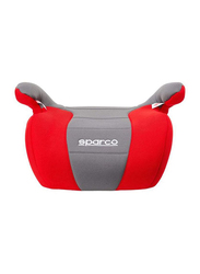 Sparco F100K Booster Seat, Red/Grey