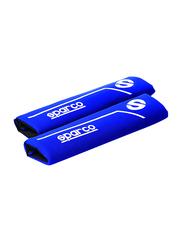 Sparco Shoulder Pads Set, Blue/White, 2 Pieces