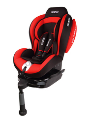 Sparco F500I Isofix Child Car Seat, Group 1, Red/Black