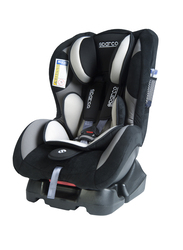 Sparco F500K Child Car Seat, Group 1+, Grey/Black