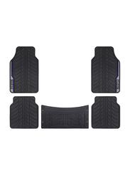 Sparco PVC Car Floor Mat Set, Universal Size, 5 Pieces, Black/Blue