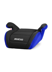 Sparco F100K Booster Seat, Black/Blue