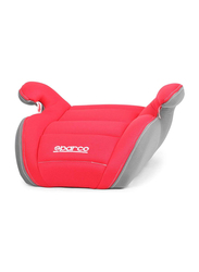 Sparco F100K Booster Seat, Grey/Red