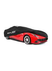 Sparco Non-Woven Car Cover, Extra Large, Black
