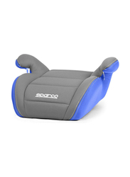 Sparco F100K Booster Seat, Grey/Blue