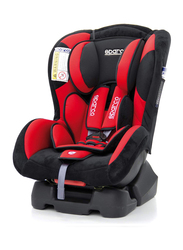 Sparco F500K Child Car Seat, Group 1+, Red/Black