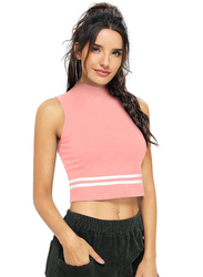 Trendy Crop Top for Women, X-Large, Pink