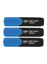 Deli 10-Piece Highlighter, S621, Blue