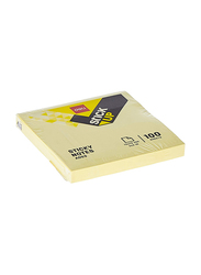 Deli A003 Sticky Notes, 7.6 x 7.6cm, Yellow