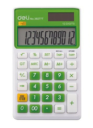 Deli 12-Digit Basic Calculator, Small, 39277T, Green