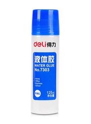 Deli 12-Piece Liquid Glue, 125ml, Blue