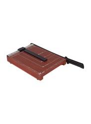 Deli A4-12 Sheets Wooden Paper Cutter, 30 x 250cm, 8004, Brown