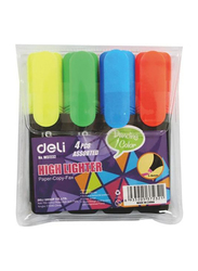 Deli 4-Piece Highlighters Wallet Set, W37232, Assorted
