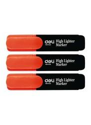 Deli 10-Piece Highlighter, S621, Orange