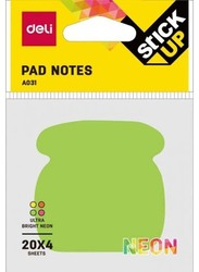 Deli A031 Fancy Shapes Sticky Notes, 7.6 x 7.6cm, Multicolor