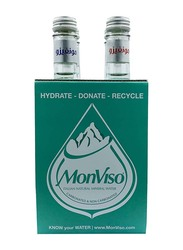 Monviso Natural Mineral Still & Sparkling Mix Water, 4 Glass Bottles x 375ml