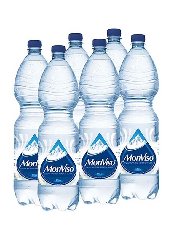 Monviso Natural Mineral Still Water, 6 Bottles x 1.5 Liter