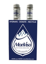 Monviso Natural Mineral Still Water, 4 Glass Bottles x 375ml
