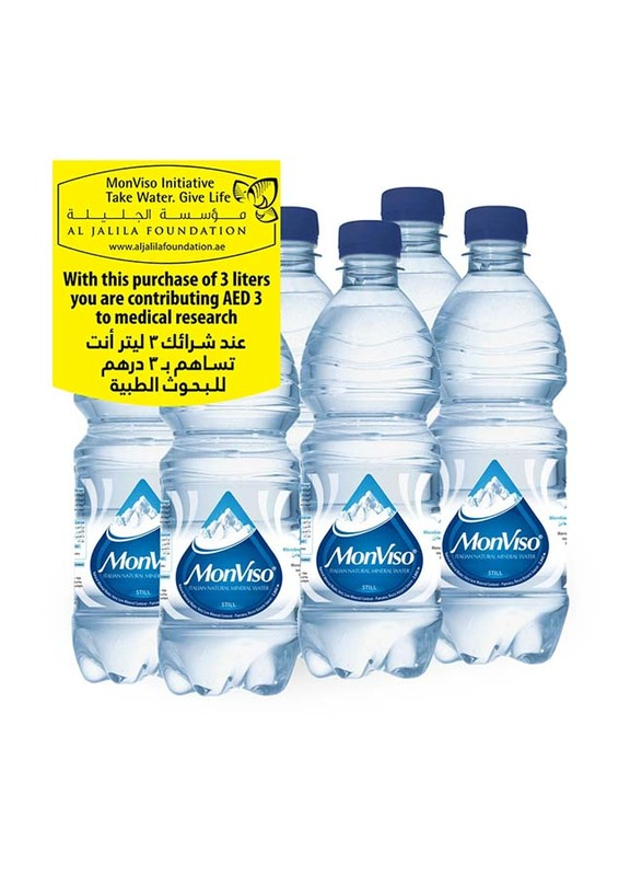 Monviso Natural Mineral Still Water, 6 Bottles x 500ml