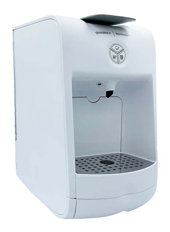 Guzzini Infusion Coffee Machine with Hausbrandt Coffee Capsules Blister, White