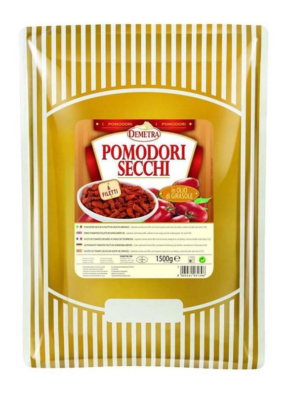Demetra Dried Tomato Fillet In Sunflower Oil Italy, 1.5 Kg