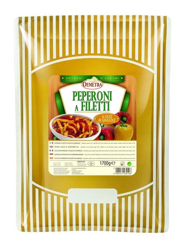 Demetra Sliced Pepper In Sunflower Oil, 1.7 Kg