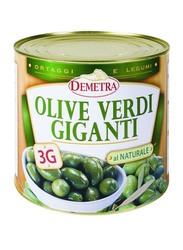 Demetra Giant Green Olives, 2.5 Kg