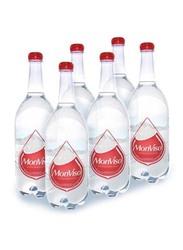 Monviso Natural Mineral Sparkling Water, 6 Bottles x 1 Liter