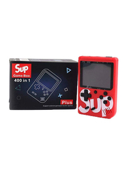 Sup 400-In-1 Retro Portable Handheld Game Console with INK System Carrying Handbag Case, Red