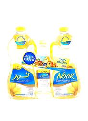 Noor Sunflower Oil, 3 Pack, 1.8 Liter x 2 + 750ml