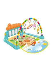2-in-1 Baby Kick and Play Piano Gym Mat with Rattles, Multicolor