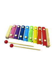 CrazyCrafts Wooden Xylophone with 8 Notes, Multicolor