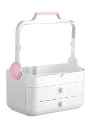 Cosmetic Jewelry Makeup Storage Box, White