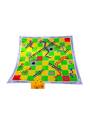 Traditional Garden Games Snakes and Ladders Board Game, 3x3mm