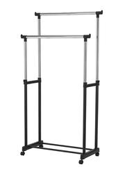 Double Pole Garment Organizer, Black/Sliver