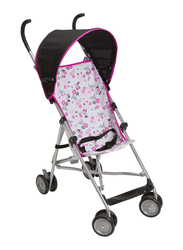 Disney Umbrella Baby Stroller with Canopy, Pink/Silver/Black
