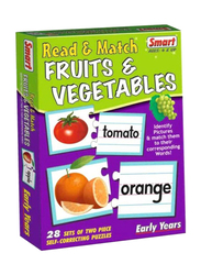 Smart 56-Piece Read and Match Fruits and Vegetables Game