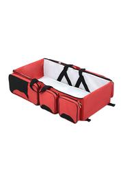 Multifunctional Nylon Baby Travel Cot Bag, Red/Black