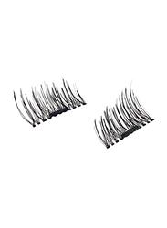 2-Piece Handmade 3D Magnetic Extension False Eyelashes, Black
