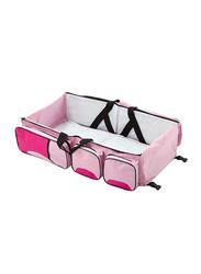 Multifunctional Nylon Baby Travel Cot Bag, Pink