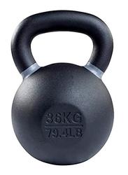 Prosportsae Powder Coated Cast Iron Kettlebell, 36KG, Black