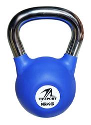 TA Sports Rubber Coated Kettlebell, Navy Blue, 16KG