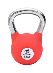 TA Sports Rubber Coated Kettlebell, Pink, 20KG