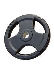 Prosportsae Tri-Grip Olympic Rubber Weight Plates, 5KG, Black