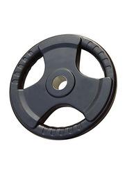Prosportsae Tri-Grip Olympic Rubber Weight Plates, 15KG, Black