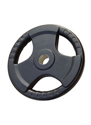 Prosportsae Tri-Grip Olympic Rubber Weight Plates, 2.5KG, Black